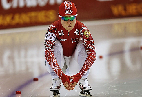 Ольга ГРАФ на ЧЕ-2013 в Херенвене. Фото AFP