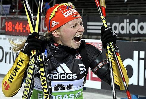 1 декабря 2011 года. Этап Кубка мира в Эстерсунде. Индивидуальная гонка 15 км. Фото AFP