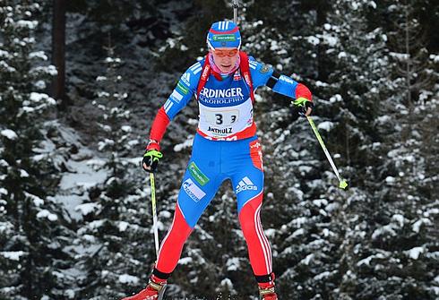 Екатерина ШУМИЛОВА на этапе Кубка мира в Антерсельве. Фото AFP