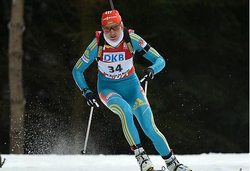 Елена ПИДГРУШНАЯ во время победного спринта на ЧМ-2013 в Нове-Место. Фото AFP