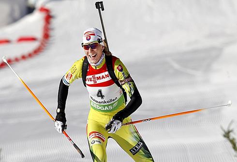 19 марта 2011 года. Этап Кубка мира в Осло (Норвегия). Гонка преследования 10 км. Фото AFP