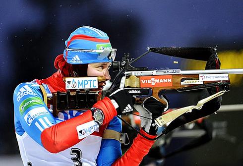 2 декабря 2012 года. Этап Кубка мира в Эстерсунде. Гонка преследования 10 км. Фото AFP
