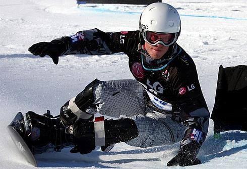 Андрей СОБОЛЕВ на этапе Кубка мира в Лимоне-Пьемонте. Фото www.snowbd.ru