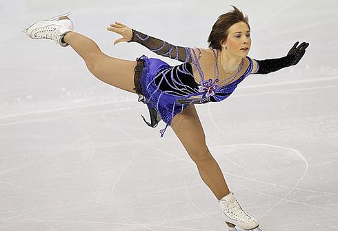 Алена ЛЕОНОВА на Олимпийских играх-2010 в Ванкувере. Фото Александра ВИЛЬФА