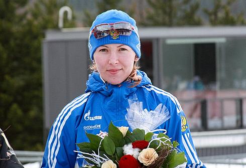 Екатерина ГЛАЗЫРИНА. Фото allbiathlon.com