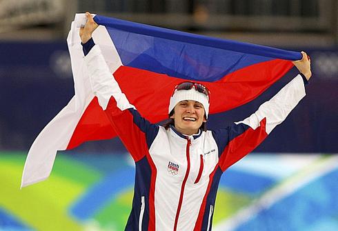 Мартина САБЛИКОВА празднует победу на Олимпиаде-2010 в Ванкувере. Фото REUTERS