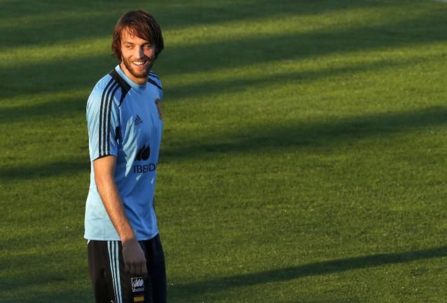 Нападающий сборной Испании МИЧУ. Фото Reuters