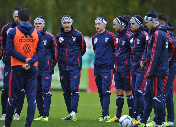 Тренировка сборной России перед выездом в Люксембург и Азербайджан. Фото Александр ФЕДОРОВ, «СЭ»