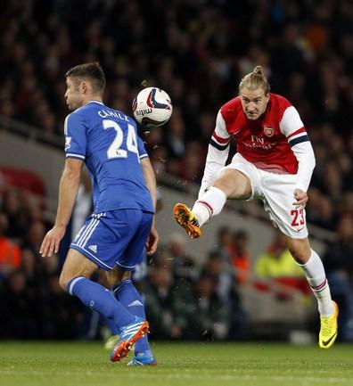 "Нападающий ""Арсенала"" Никлас БЕНДТНЕР. Фото AFP"