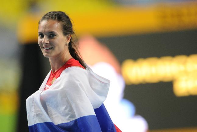 Двукратная олимпийская чемпионка в прыжках с шестом Елена ИСИНБАЕВА. Фото Федор УСПЕНСКИЙ, «СЭ»