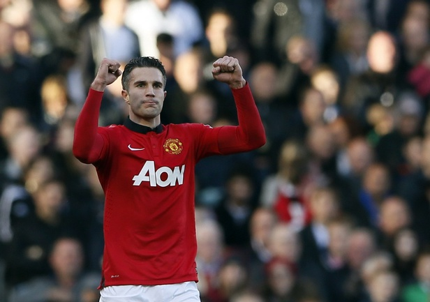 "Нападающий ""Манчестер Юнайтед"" Робин ван ПЕРСИ. Фото Reuters"