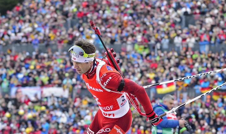 Норвежский биатлонист Оле Эйнар БЬОРНДАЛЕН. Фото AFP