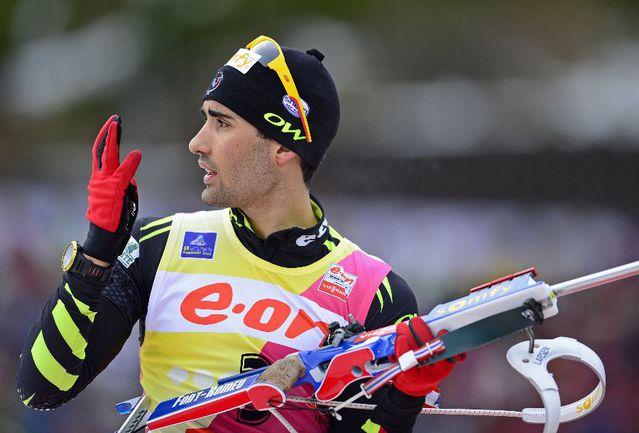 Французский биатлонист Мартен ФУРКАД. Фото AFP