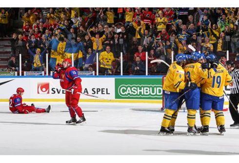 Сегодня. Мальме. Швеция - РОССИЯ - 2:1. Фото IIHF