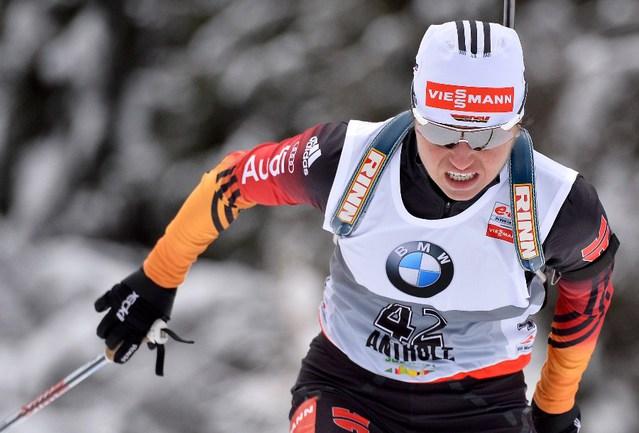 Победительница гонки преследования Андреа ХЕНКЕЛЬ Фото AFP