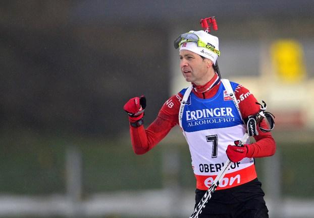 Норвежец Оле Эйнар БЬОРНДАЛЕН. Фото AFP