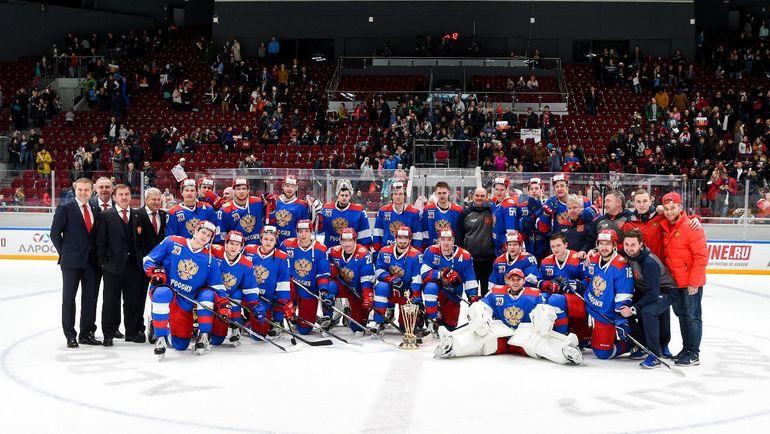 Олимпийская сборная России выиграла Кубок АЛРОСА. Фото ФХР
