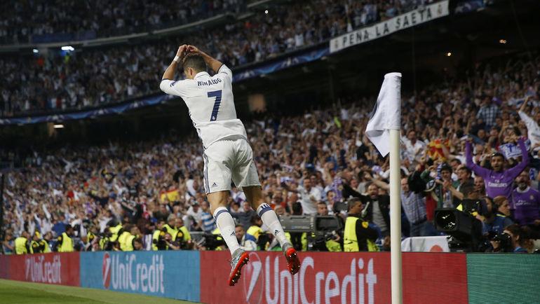 """Вторник. Мадрид. """"Атлетико"""" - """"Реал"""" - 0:3. КРИШТИАНУ РОНАЛДУ празднует хет-трик. Фото Reuters"""