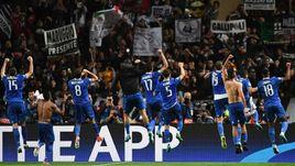 """Среда. Монте-Карло. """"Монако"""" - """"Ювентус"""" - 0:2. Туринцы празднуют победу."""
