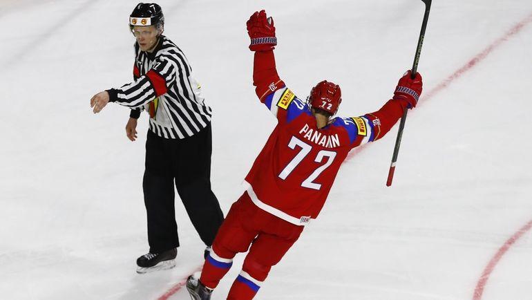 Сегодня. Кельн. Швеция - Россия - 1:2 Б. Артемий ПАНАРИН празднует победный буллит. Фото Reuters