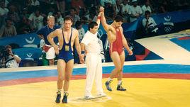Гоги КОГУАШВИЛИ (справа) в Барселоне на Играх-1992.