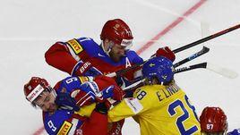 Вчера. Кельн. Швеция - Россия - 1:2 Б. Стычка хоккеистов.