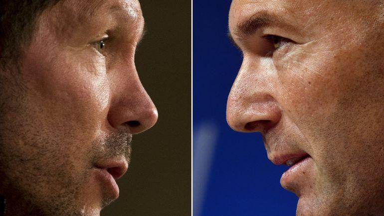 Диего СИМЕОНЕ и Зинедин ЗИДАН. Фото Reuters