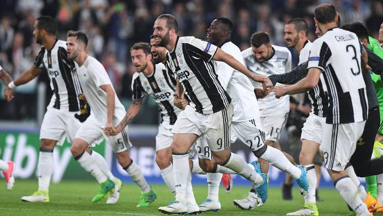 """Вчера. Турин. """"Ювентус"""" – """"Монако"""" – 2:1. Туринцы празднуют выход в финал турнира."""