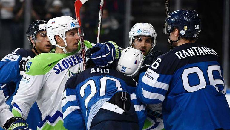 Среда. Париж. Финляндия - Словения. Финны не без труда обыграли одного из аутсайдеров. Фото AFP