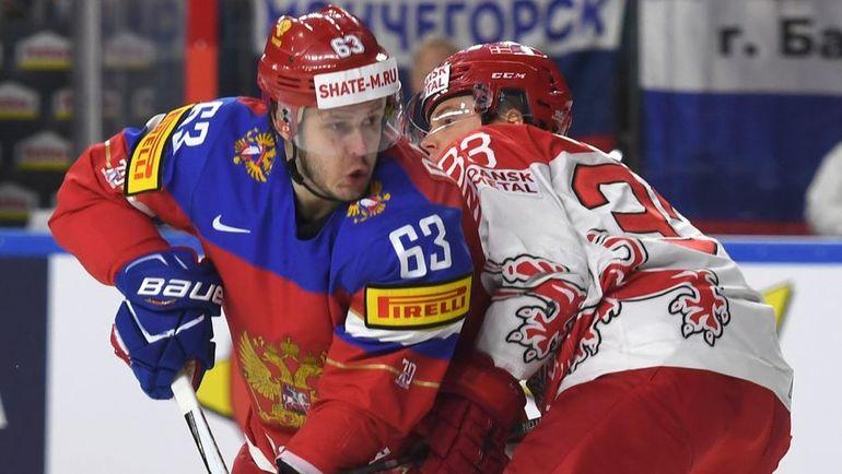 Сегодня. Кельн. Россия - Дания - 3:0. Летом Евгений ДАДОНОВ (63), скорее всего, уедет в НХЛ. Фото Reuters