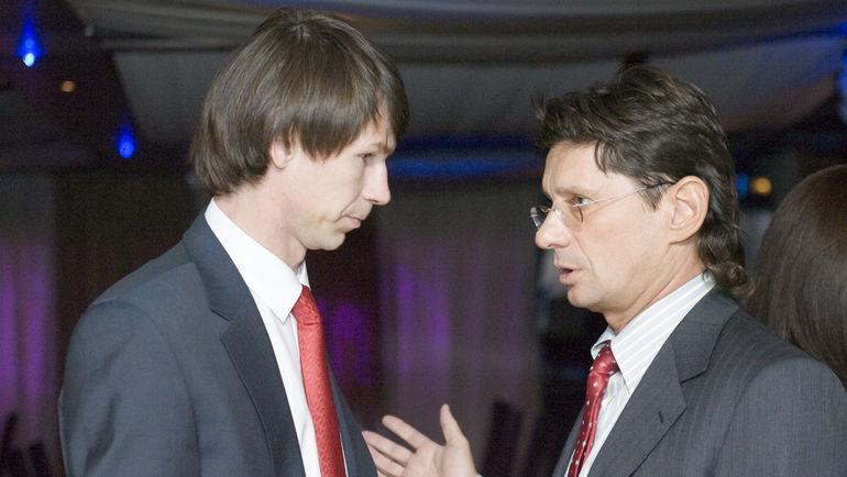 Декабрь 2007 года. Егор ТИТОВ и Леонид ФЕДУН. Фото Александр ВИЛЬФ