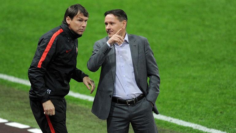 """Егор ТИТОВ (слева) и Дмитрий АЛЕНИЧЕВ. Фото Алексей ИВАНОВ, """"СЭ"""""""