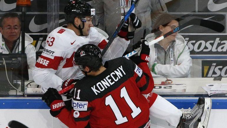 Канада должна выиграть свою группу, даже несмотря на поражение от Швейцарии. Фото REUTERS