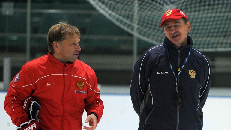 """Евгений КОРЕШКОВ (слева) и Валерий БРАГИН. Фото Никита УСПЕНСКИЙ, """"СЭ"""""""