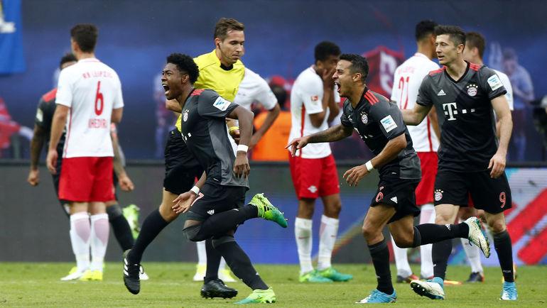 """Суббота. Лейпциг. """"Лейпциг"""" - """"Бавария"""" - 4:5. Мюнхенская команда вырвала сверхпобеду в компенсированное время. Фото AFP"""