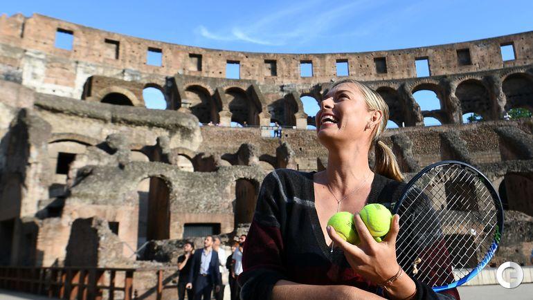 Сегодня. Рим. Мария ШАРАПОВА в Колизее.