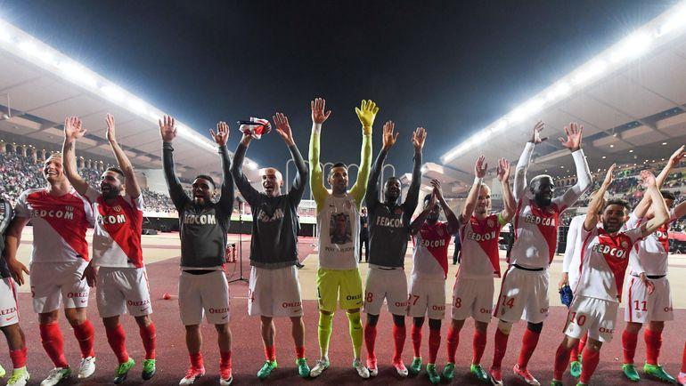 """Воскресенье. Монако. """"Монако"""" - """"Лилль"""" - 4:0. Игроки """"Монако"""" празднуют победу. Фото Reuters"""