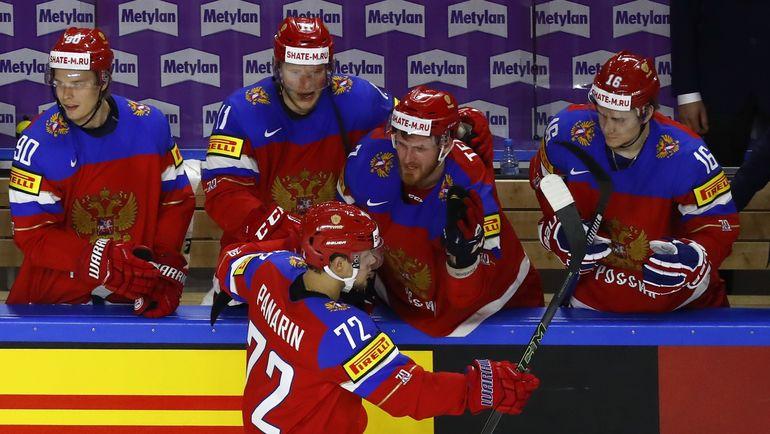 Нападающий сборной России Артемий ПАНАРИН сделал три результативные передачи в игре с Латвией. Фото Reuters