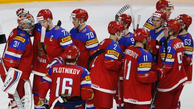 Вчера. Кельн. Россия - Латвия - 5:0. Команда Олега Знарка оформила шесть побед со старта чемпионата. Но только седьмая позволит занять первое место в группе. Фото Reuters