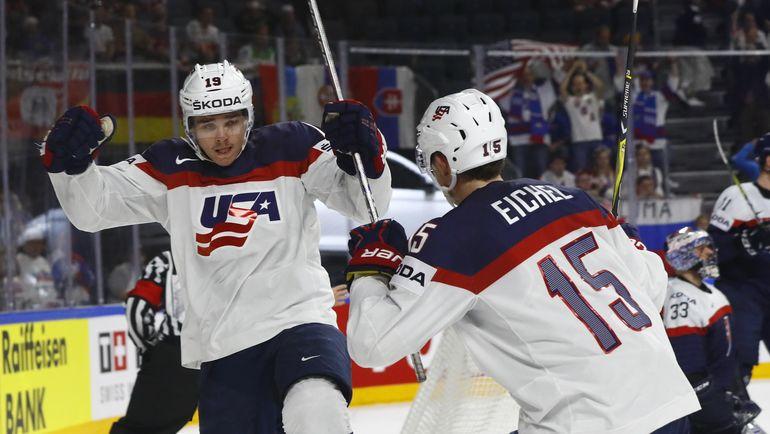 Сборная США заняла первое место в группе А после победы над Россией. Фото Reuters