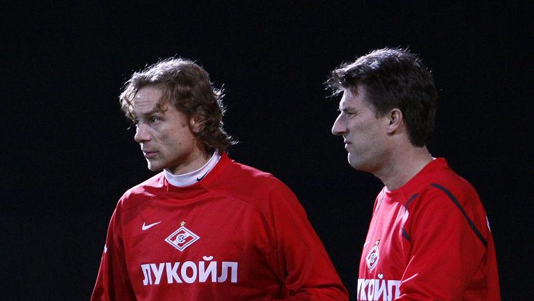 2009 год. Валерий КАРПИН (слева) и Микаэль ЛАУДРУП. Фото Александр ФЕДОРОВ, «СЭ»