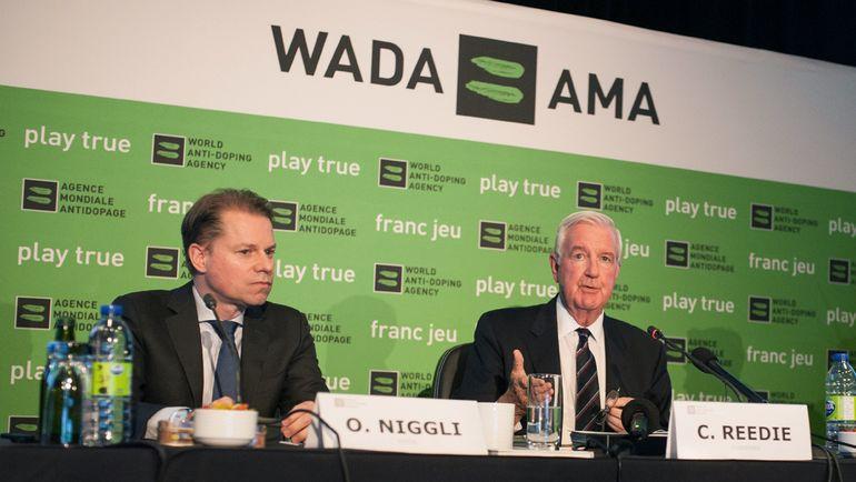 Глава ВАДА Крэйг РИДИ (справа) и генеральный директор ВАДА Оливье НИГГЛИ. Фото AFP