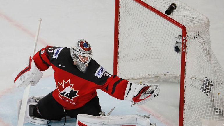Вратарь сборной Канады на чемпионате мира-2017 Кэлвин ПИКАР. Фото AFP
