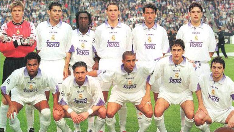 """20 мая 1998 года. Амстердам. """"Реал"""" - """"Ювентус"""" - 1:0. Игроки мадридского клуба перед решающим матчем. Фото Reuters"""