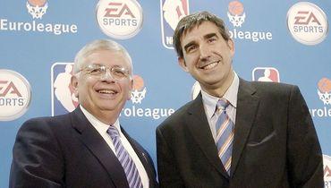 Коммисар НБА Дэвид СТЕРН и Жорди БЕРТОМЕУ.
