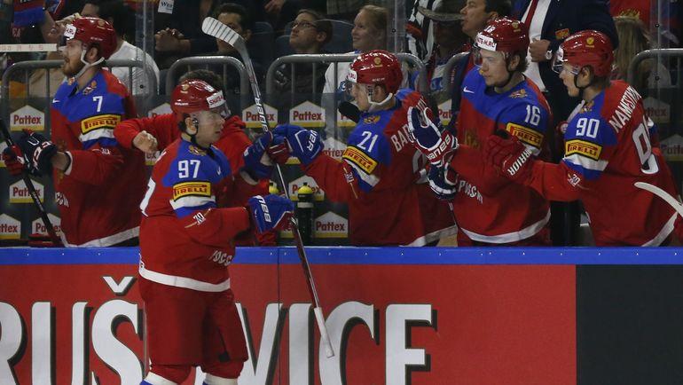Один из лидеров сборной России Никита ГУСЕВ (№97). Фото Reuters