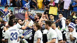 """""""Реал"""" празднует долгожданное чемпионство."""