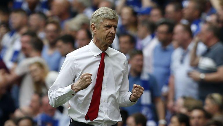"""Сегодня. Лондон. """"Арсенал"""" - """"Челси"""" - 2:1. Арсен ВЕНГЕР: есть новый трофей! Фото AFP"""