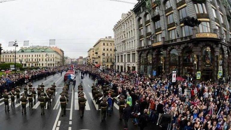 Сегодня. Санкт-Петербург. Чемпионский парад СКА. Фото ХК СКА