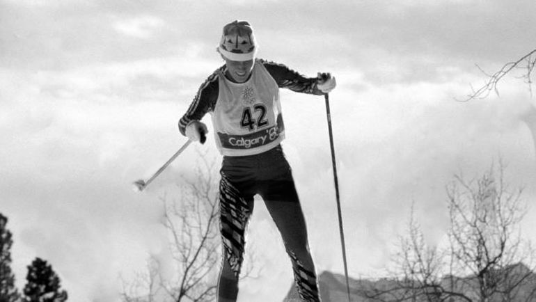 1988 год. Калгари. Двукратная чемпионка Олимпийских игр на дистанции 20 км и в эстафете 4х5 км Тамара ТИХОНОВА. Фото AFP